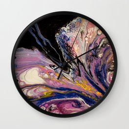 Purple Dreams, acrylic on canvas, abstract Wall Clock