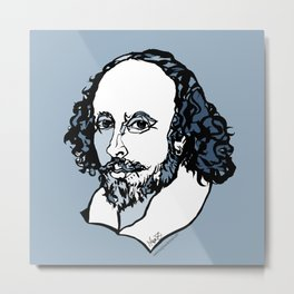 William Shakespeare The Bard by Arty Mar Metal Print