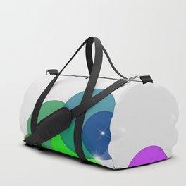 Translucent Rainbow Colored Circles Digital Illustration - Multi Colored Artwork Duffle Bag