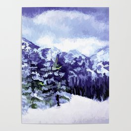 Winter In The Mountains Poster