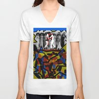 boys V-neck T-shirts featuring Boys Will Be Boys by AF Knott