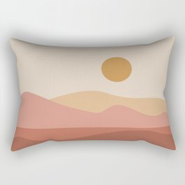 Geometric Landscape 23A Rectangular Pillow