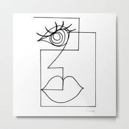 Picasso Woman. Metal Print