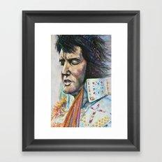 The King - Elvis Presley Framed Art Print