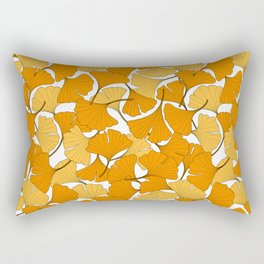 ginkgo leaves (orange) Rectangular Pillow