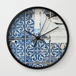 dirty azulejos Wall Clock