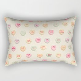 what does your heart say? Rectangular Pillow