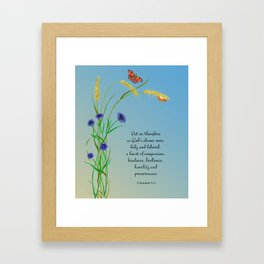 Put on therefore, as God's chosen ones, holy and beloved, a heart of compassion Col 3 v12 Framed Art Print