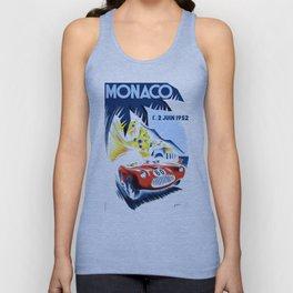 1952 Monaco Grand Prix Race Poster  Unisex Tank Top