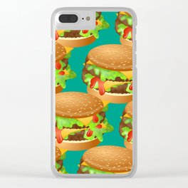 Double Cheeseburgers Clear iPhone Case