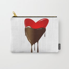 Chocolate Dipped Heart Carry-All Pouch