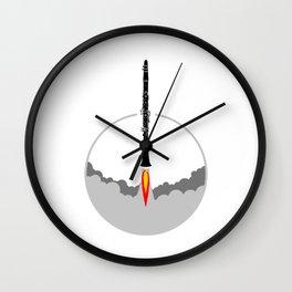 Clarinet Rocket Wall Clock