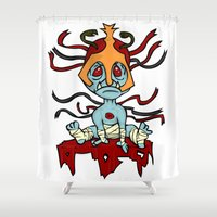 thundercats Shower Curtains featuring Thunderbrats 3 by BJ Sizemore