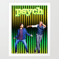 psych Art Prints featuring Psych by KP Designs