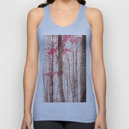 Pink and Brown Fantasy Forest Unisex Tank Top