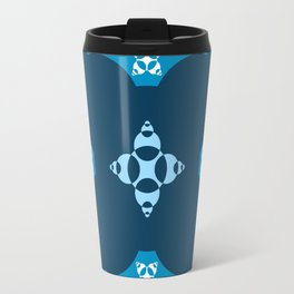 018 Abstract dark blue, cyan and white art for home decoration Travel Mug
