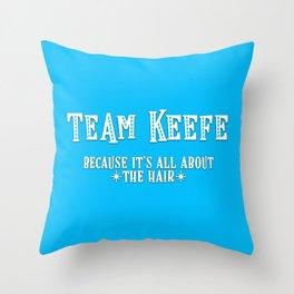 Team Keefe Throw Pillow