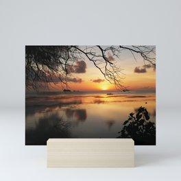 Sunset at the Lagoon Mini Art Print