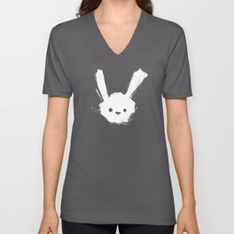 minima - splatter rabbit  Unisex V-Neck