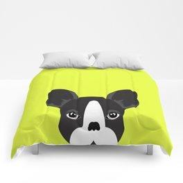 French bulldog lime green Comforters