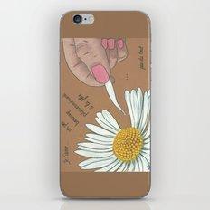 Je t'aime...un peu...beaucoup iPhone & iPod Skin