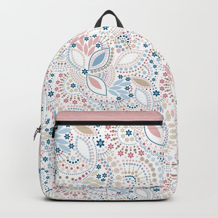 Colorful pattern of pastel light colors with beads Backpack