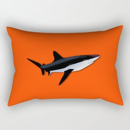 Bright Fluorescent Shark Attack Orange Neon Rectangular Pillow