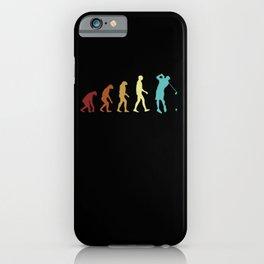 Golf Evolution Retro Golfer Player Development Cool iPhone Case
