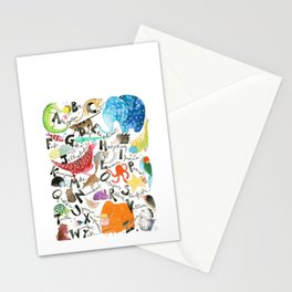 English Alphabet Stationery Cards