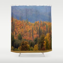 Fall colors huddled together.... Shower Curtain