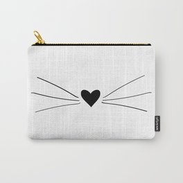 Cat Heart Nose & Whiskers Carry-All Pouch