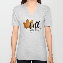 Fall In Love Unisex V-Neck
