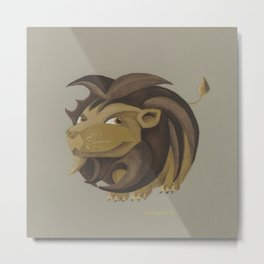 Leo (brown) Metal Print