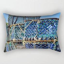 Port Isaac - Lobster Pots Rectangular Pillow