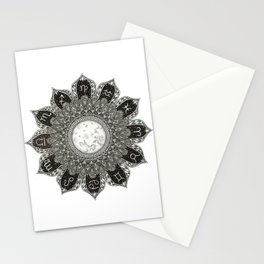Astrology Signs Mandala Stationery Cards