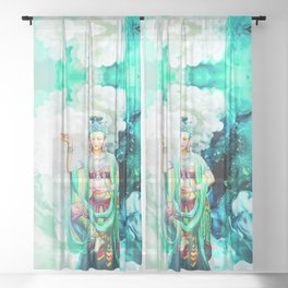 The Goddess of Mercy Sheer Curtain