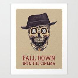 FALL DOWN INTO THE CINEMA Art Print