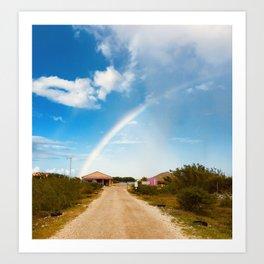 Caribbean Rainbow Art Print