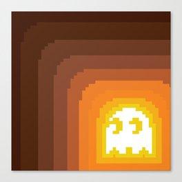 Orange Ghost Canvas Print