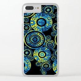 Authentic Aboriginal Art - Circles Clear iPhone Case