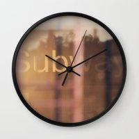 subway Wall Clocks featuring Subway by Sandra g