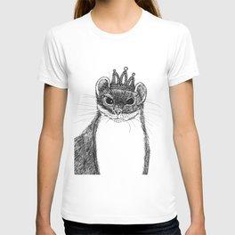 flapper weasel wearing a glittering tiara T-shirt