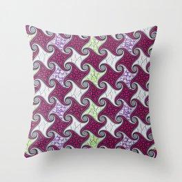 Pink Swirls African Ankara Throw Pillow
