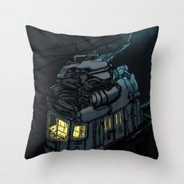 The Midnight Trolley Throw Pillow