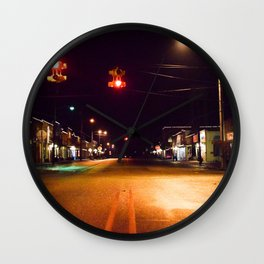 Empty town Wall Clock