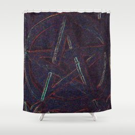 Cosmic Pentagram Shower Curtain