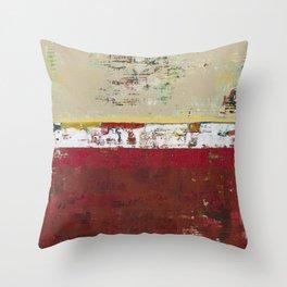 Buffalo Indian Red Burgundy Modern Abstract Art Throw Pillow