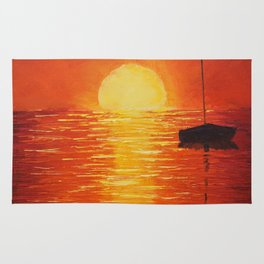 Red Sunset Rug