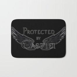 Protected by Castiel Black Wings Bath Mat