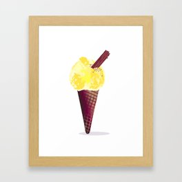 Ice Cream With Chocolate Flake Framed Art Print